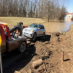 recovering a car out of the mud